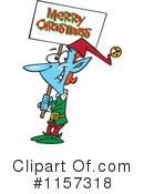 Christmas Elf Clipart #1157318 by toonaday