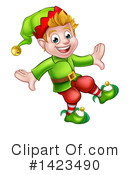 Christmas Elf Clipart #1423490 by AtStockIllustration