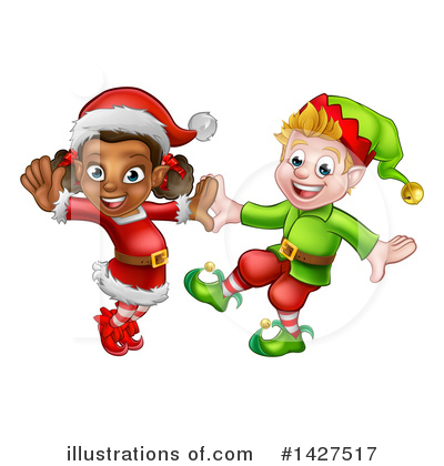 Christmas Elf Clipart #1427517 by AtStockIllustration