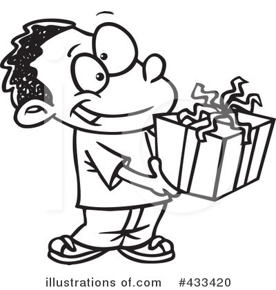 Christmas Gift Clipart 433420 Illustration By Toonaday