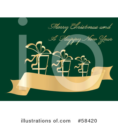 Christmas Greeting Clipart #58420 by MilsiArt