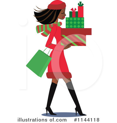 Christmas Shopping Clipart #1144118 by peachidesigns