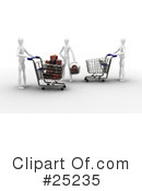 Christmas Shopping Clipart #25235 by KJ Pargeter