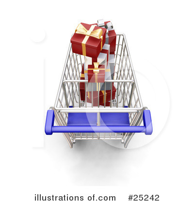 Christmas Shopping Clipart #25242 by KJ Pargeter
