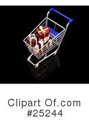 Christmas Shopping Clipart #25244 by KJ Pargeter