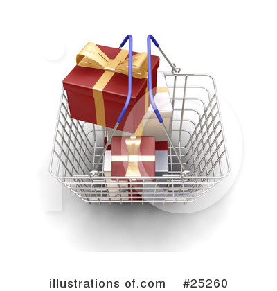 Christmas Shopping Clipart #25260 by KJ Pargeter