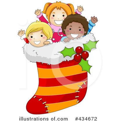 Christmas Stocking Clipart #434672 - Illustration by BNP Design Studio