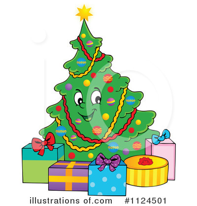 Christmas Tree Clipart #1124501 by visekart