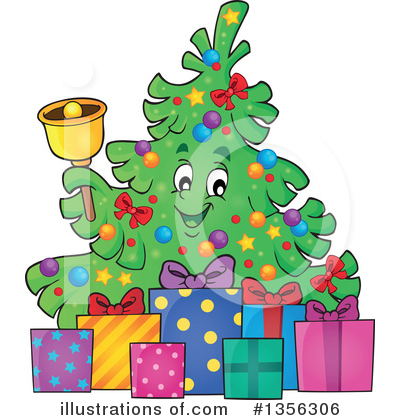 Christmas Tree Clipart #1356306 by visekart