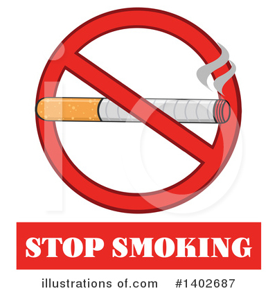 No Smoking Clipart #1402687 by Hit Toon