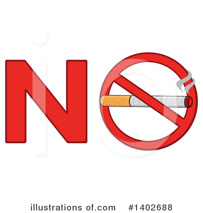 No Smoking Clipart #1402688 by Hit Toon