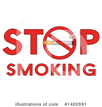 No Smoking Clipart #1402691 by Hit Toon