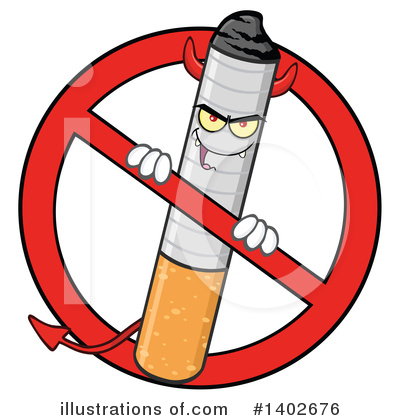 No Smoking Clipart #1402676 by Hit Toon