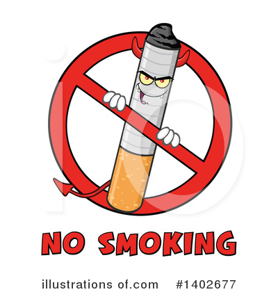 No Smoking Clipart #1402677 by Hit Toon