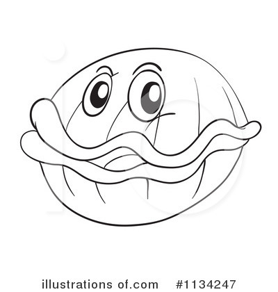 Clam clipart 1134247 illustration by graphics rf for Clam coloring page