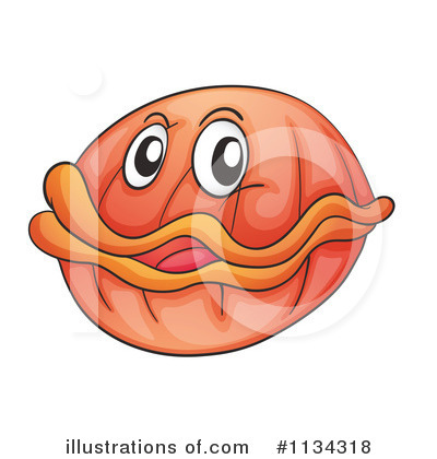 Clam Clipart #1134318 - Illustration by colematt