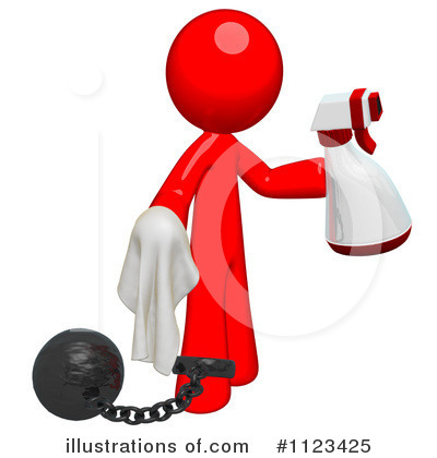 Royalty-Free (RF) Cleaning Clipart Illustration by Leo Blanchette - Stock Sample #1123425