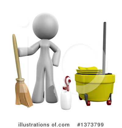 Cleaning Clipart #1373799 by Leo Blanchette
