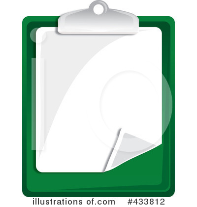 Clipboard Clipart #433812 - Illustration by Pams Clipart
