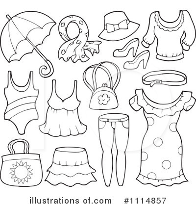 Clothes Clipart #1114857 - Illustration by visekart