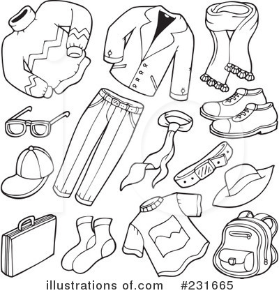 bd05b627136 Royalty-Free (RF) Clothes Clipart Illustration  231665 by visekart