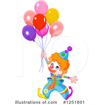 Royalty-Free (RF) Clown Clipart Illustration by Pushkin - Stock Sample #1251801
