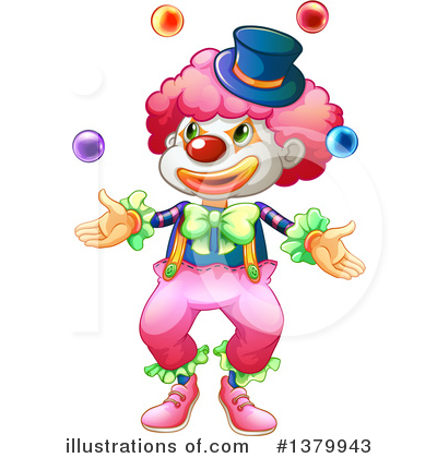 Clown Clipart #1379943 by Graphics RF