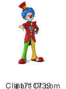 Clown Clipart #1711739 by Julos