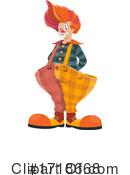 Clown Clipart #1718668 by Vector Tradition SM