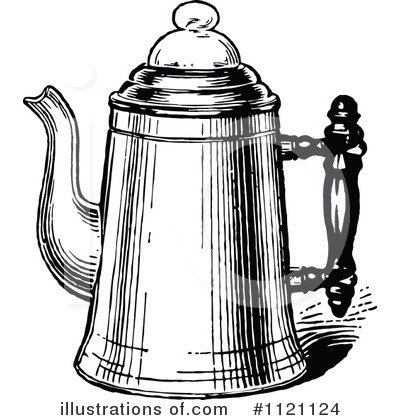 Coffee Pot Clipart #1121124 - Illustration by Prawny Vintage