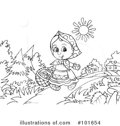 Coloring Page Clipart #101654 - Illustration by Alex Bannykh