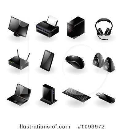 Royalty-Free (RF) Computers Clipart Illustration by TA Images - Stock Sample #1093972