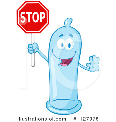 Condom Mascot Clipart #1127976 by Hit Toon