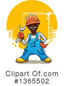 Construction Worker Clipart #1365502 by Vector Tradition SM