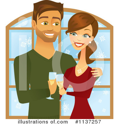 Royalty-Free (RF) Couple Clipart Illustration by Amanda Kate - Stock Sample #1137257