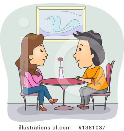 Couple Clipart #1381037 by BNP Design Studio