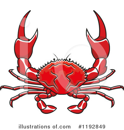 Crab Clipart #1192849 by Vector Tradition SM