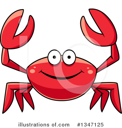 Crab Clipart #1347125 by Vector Tradition SM