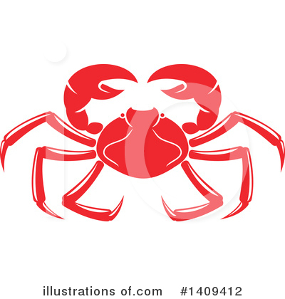 Crab Clipart #1409412 by Vector Tradition SM