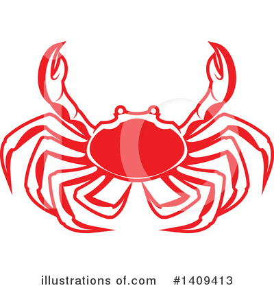 Crab Clipart #1409413 by Vector Tradition SM