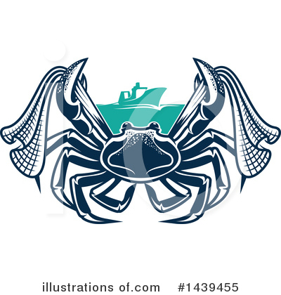 Crab Clipart #1439455 by Vector Tradition SM