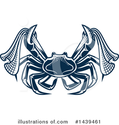 Crab Clipart #1439461 by Vector Tradition SM