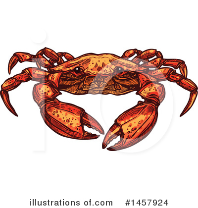 Crab Clipart #1457924 by Vector Tradition SM