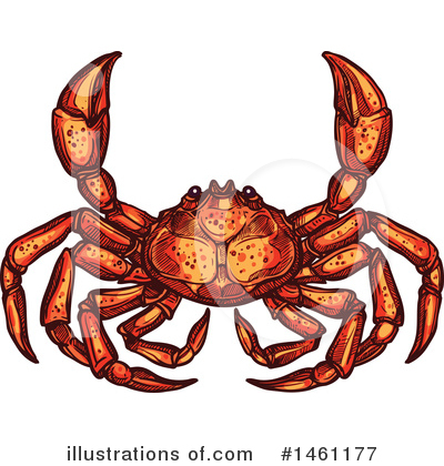 Crab Clipart #1461177 by Vector Tradition SM