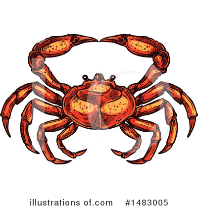 Crab Clipart #1483005 by Vector Tradition SM
