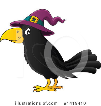 Raven Clipart #1419410 by visekart