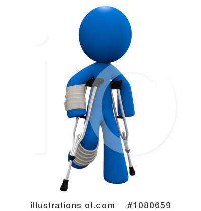 Crutches Clipart #1080659 - Illustration by Leo Blanchette