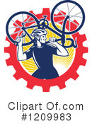Cyclist Clipart #1209983 by patrimonio