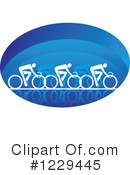 Cyclist Clipart #1229445 by Vector Tradition SM