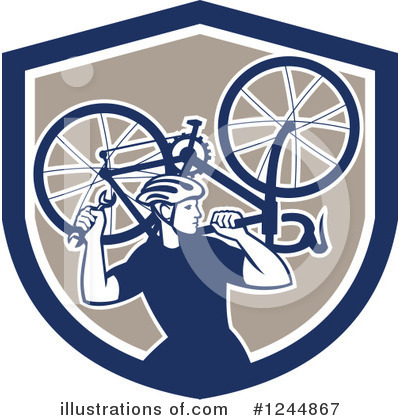 Bicycle Clipart #1244867 by patrimonio